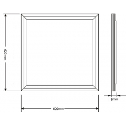 50 Watt Square panel light for replace traditional Grille Lamp