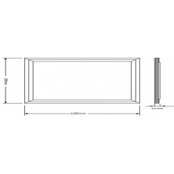 40Watt Square panel light for replace traditional Grille Lamp