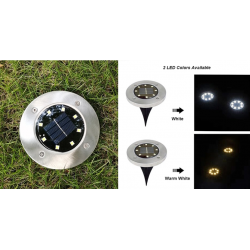 8 LED Upgraded Waterproof Bright Underground Lamps IP65 Outdoor Solar Ground Lights for Lawn Pathway Garden