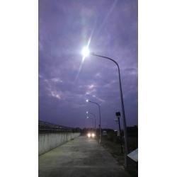 130watt solar panel integrated Solar street light on highway with CE ROHS