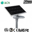80watt solar panel separated Solar street light on highway