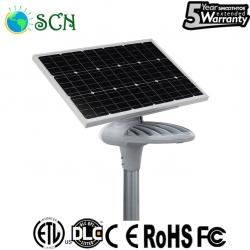 80watt solar panel separated Solar street light on highway