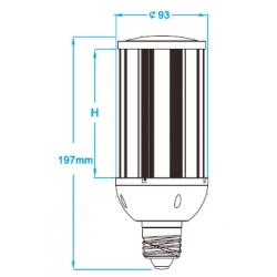 IP64 Waterproof 27W led garden light