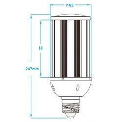 Waterproof E39 mogul 45W led garden light