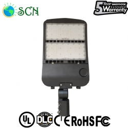 UL DLC 200watt led shoebox light used in parking Lot