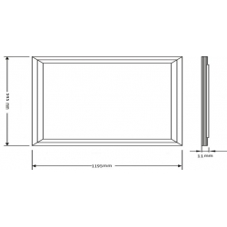 High power 60watt 6060 square panel light for replace traditional Grille Lamp