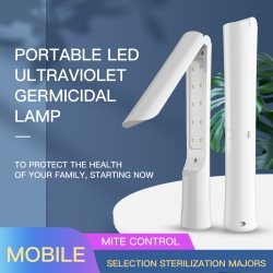 Foldable Portable UVC wand sterilization lamp for fight coronnavirus