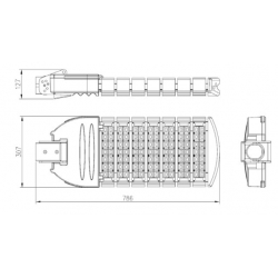 210watt philip or cree led street light for highway