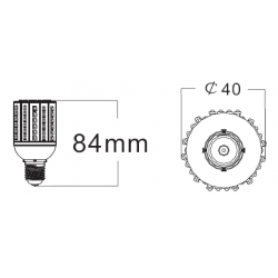 E27 3W led warehouse light