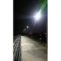 100watt integrated Solar street light on highway with CE ROHS