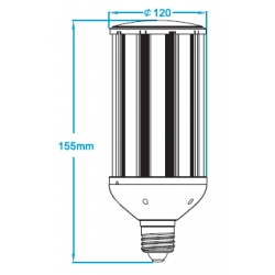 Waterproof E40 80W led garden light with external meanwell power supply