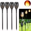 96leds outdoor garden flicker flame led solar landscape lamp