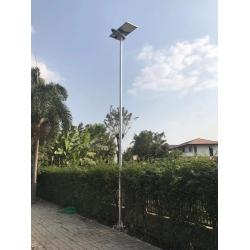 50watt solar panel separated Solar street light on highway